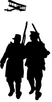 world_war_i_silhouette_black_white_line_